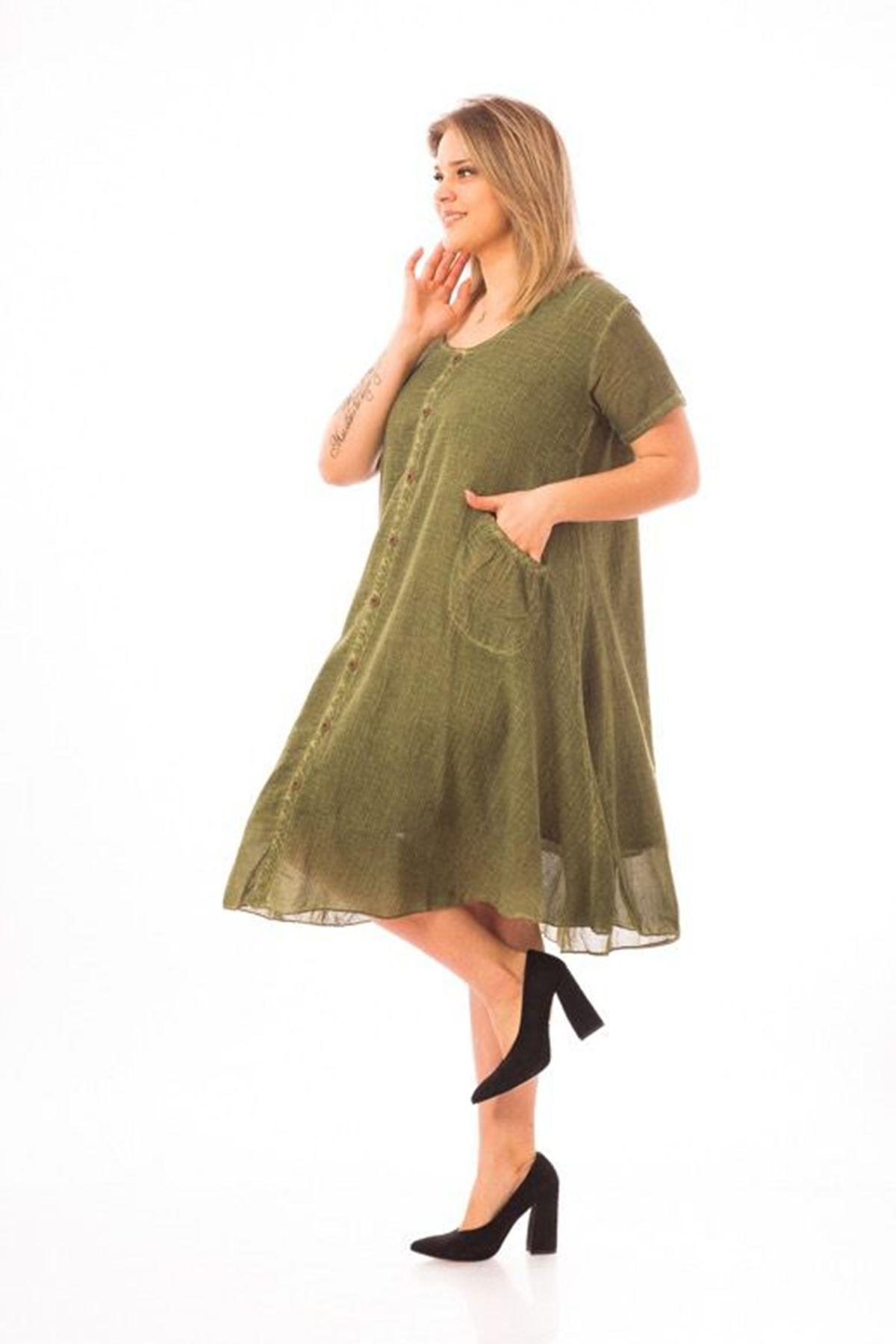 Yarım Kollu Kadın Elbise
