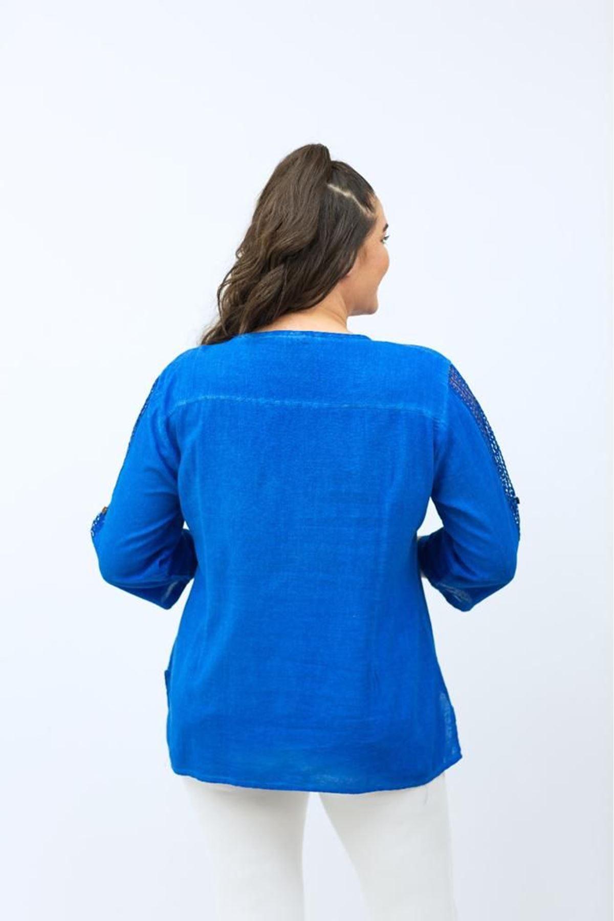 Cepli Dantelli Kadın Gömlek