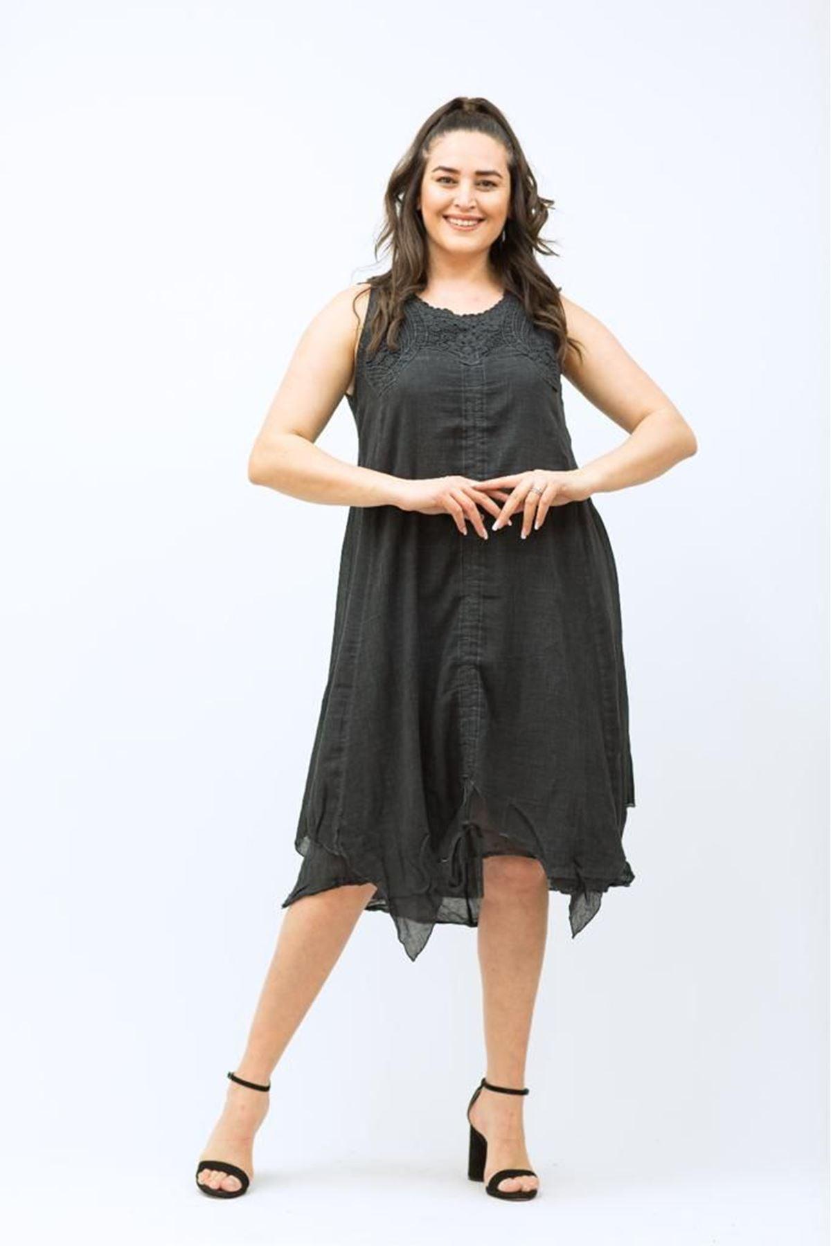 Kalın Askılı Kadın Elbise