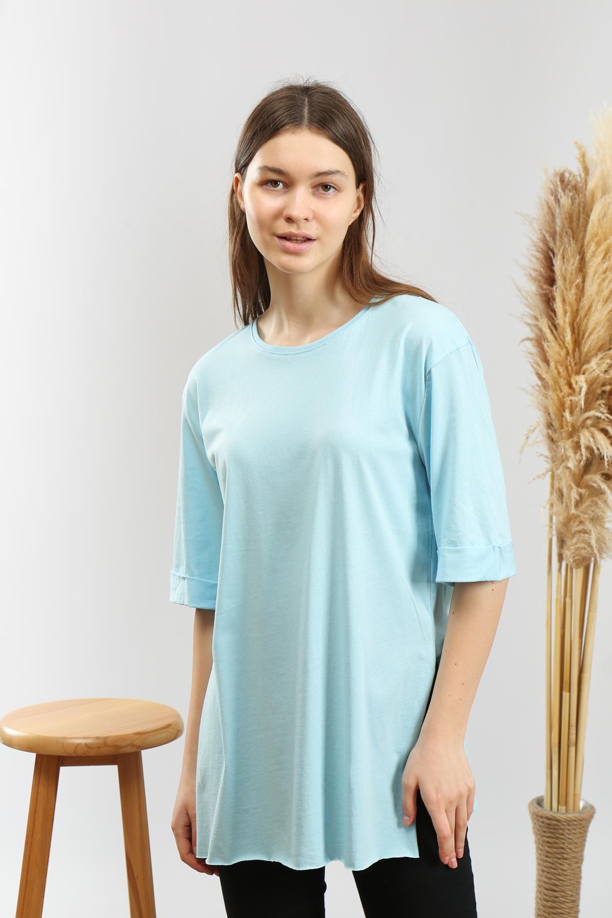 Yandan Yırtmaçlı T-shirt