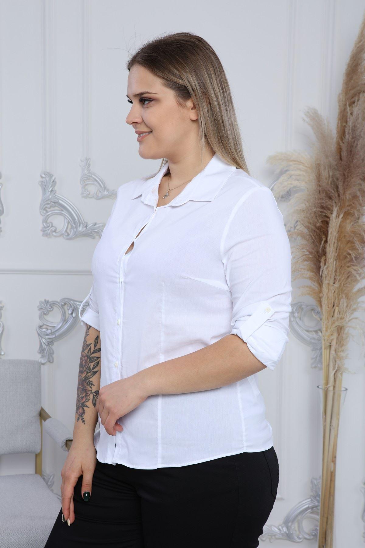 Katlama Kol Kadın Gömlek