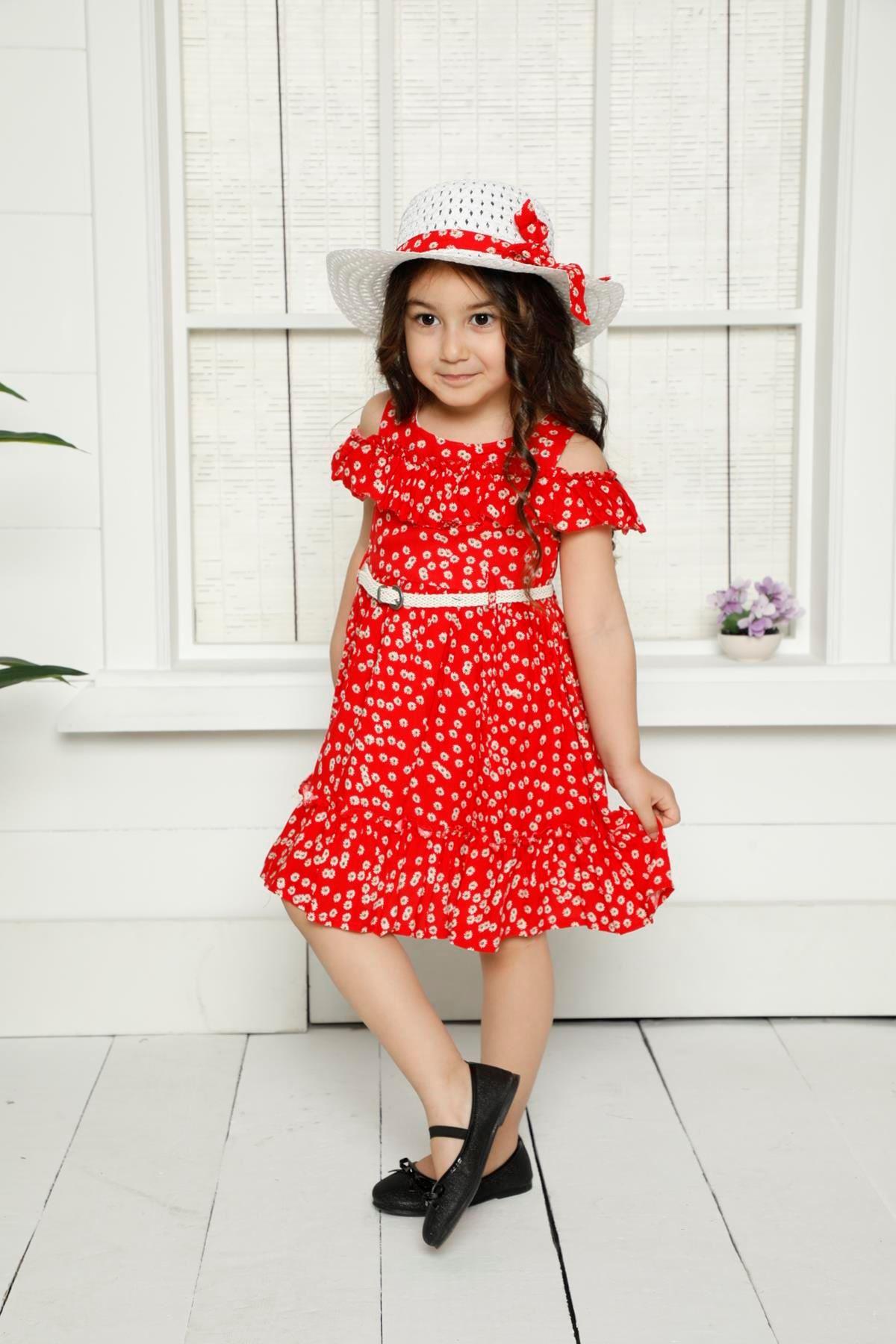 Şapkalı Kemerli Elbise