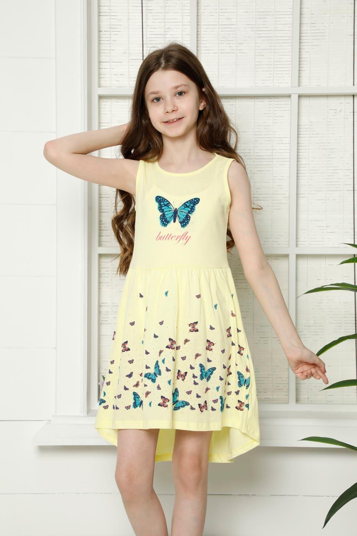 Kelebek Baskılı Elbise