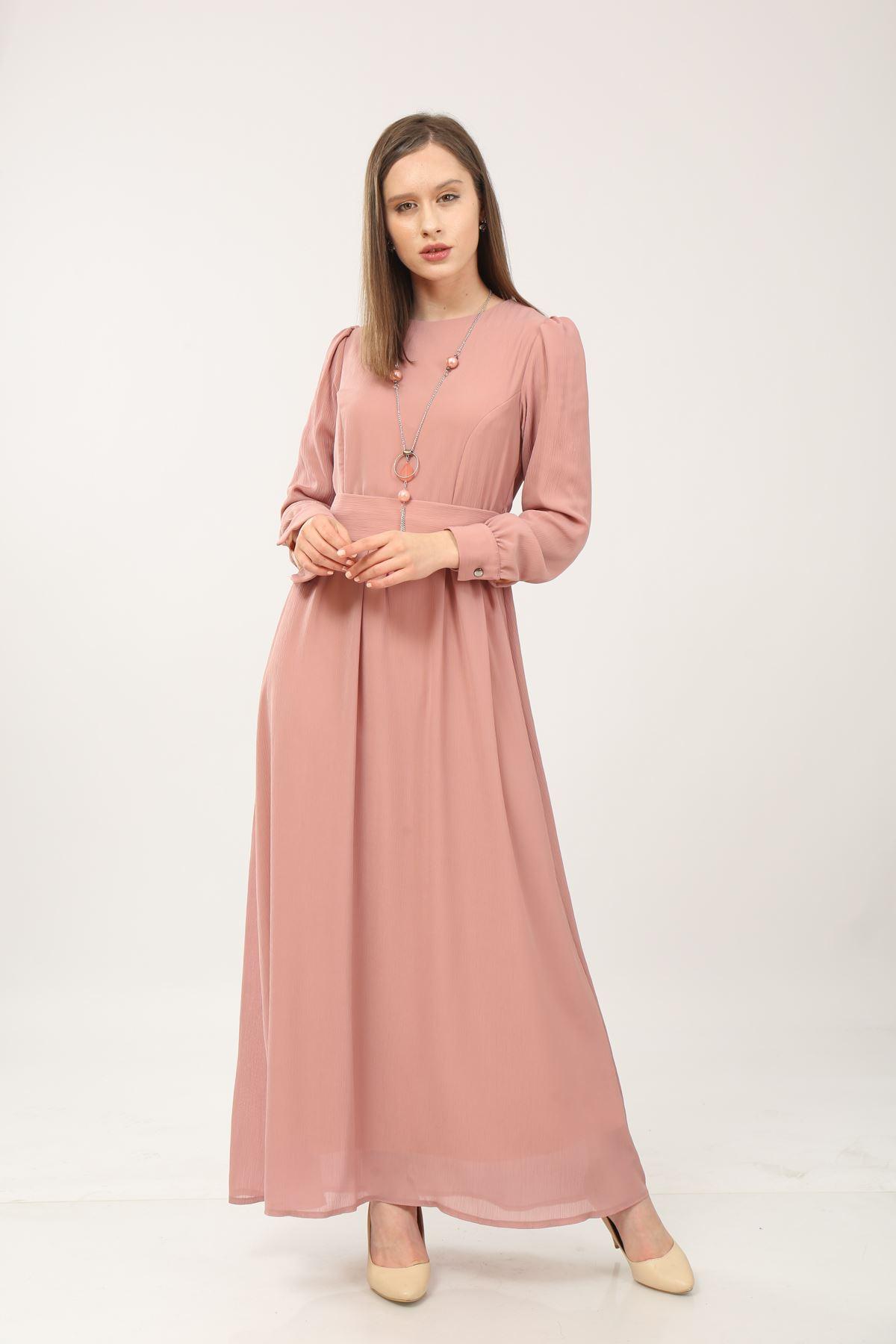 Kemerli Kadın Elbise