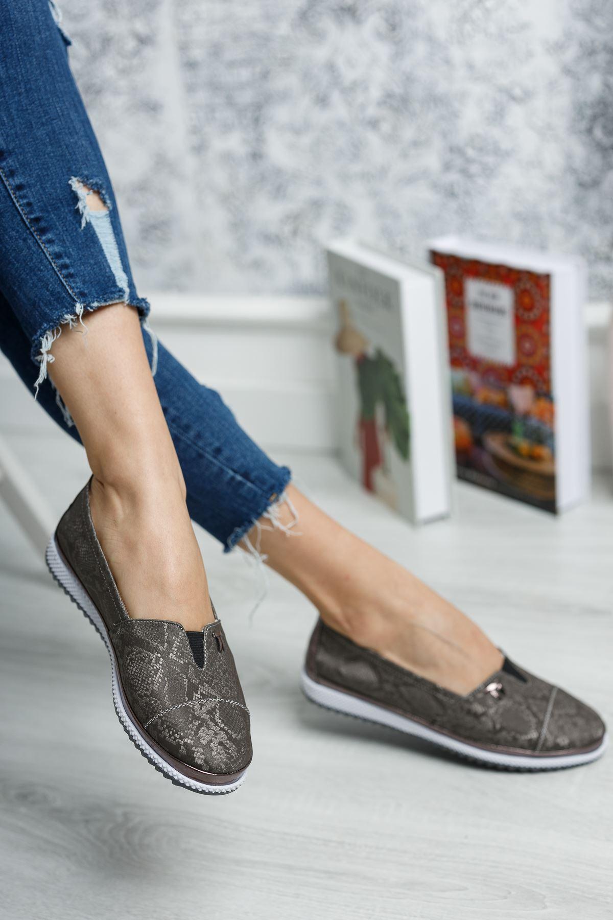 Ortopedik Taban İçi Deri Lastikli Ayakkabı
