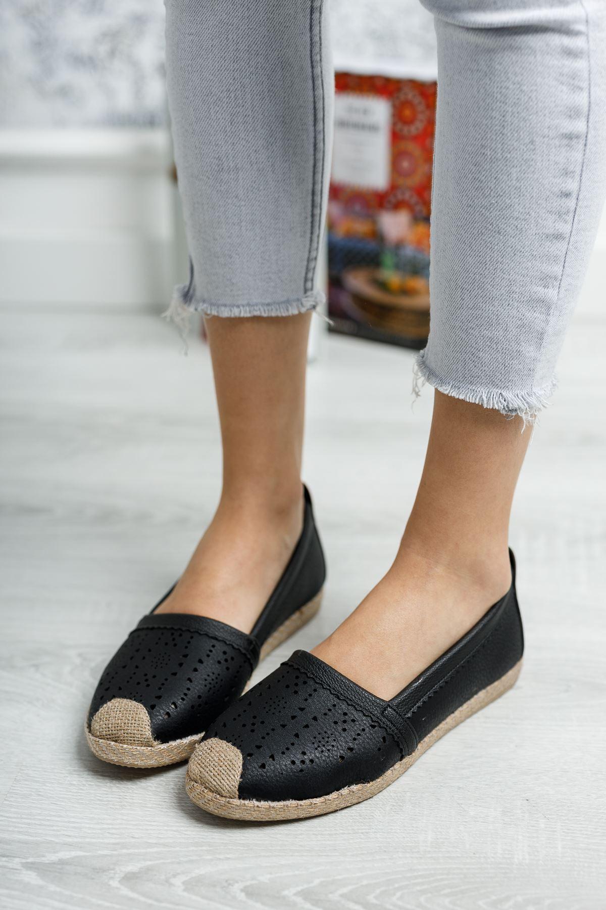 Ortapedik Pedli Lazerli Siyah Cilt Ayakkabı