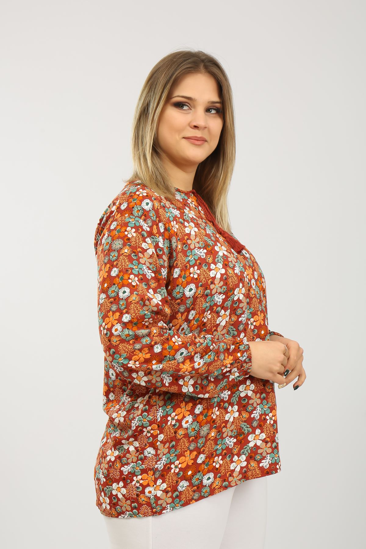 Desenli Kadın Bluz
