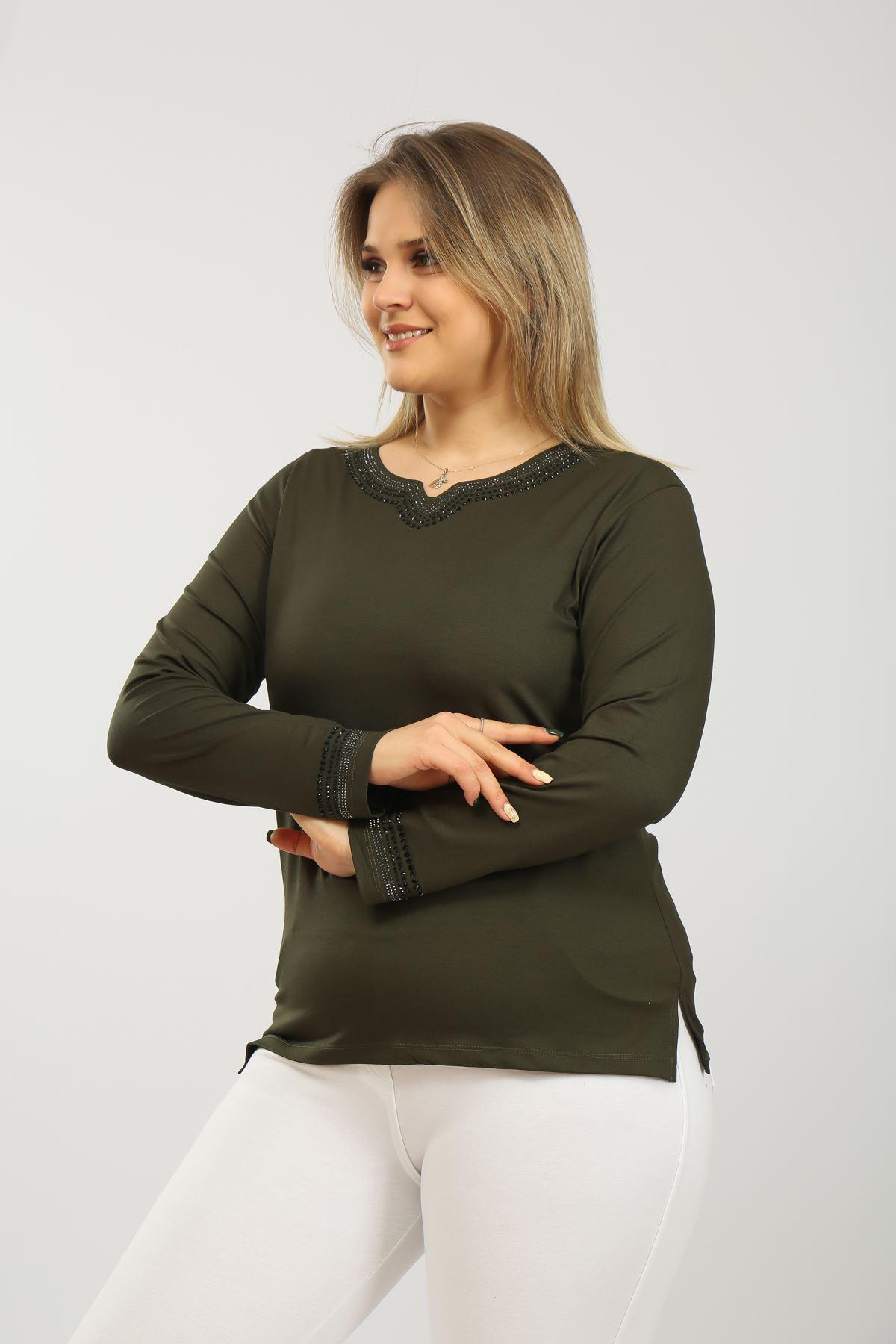 Taşlı Kadın Bluz