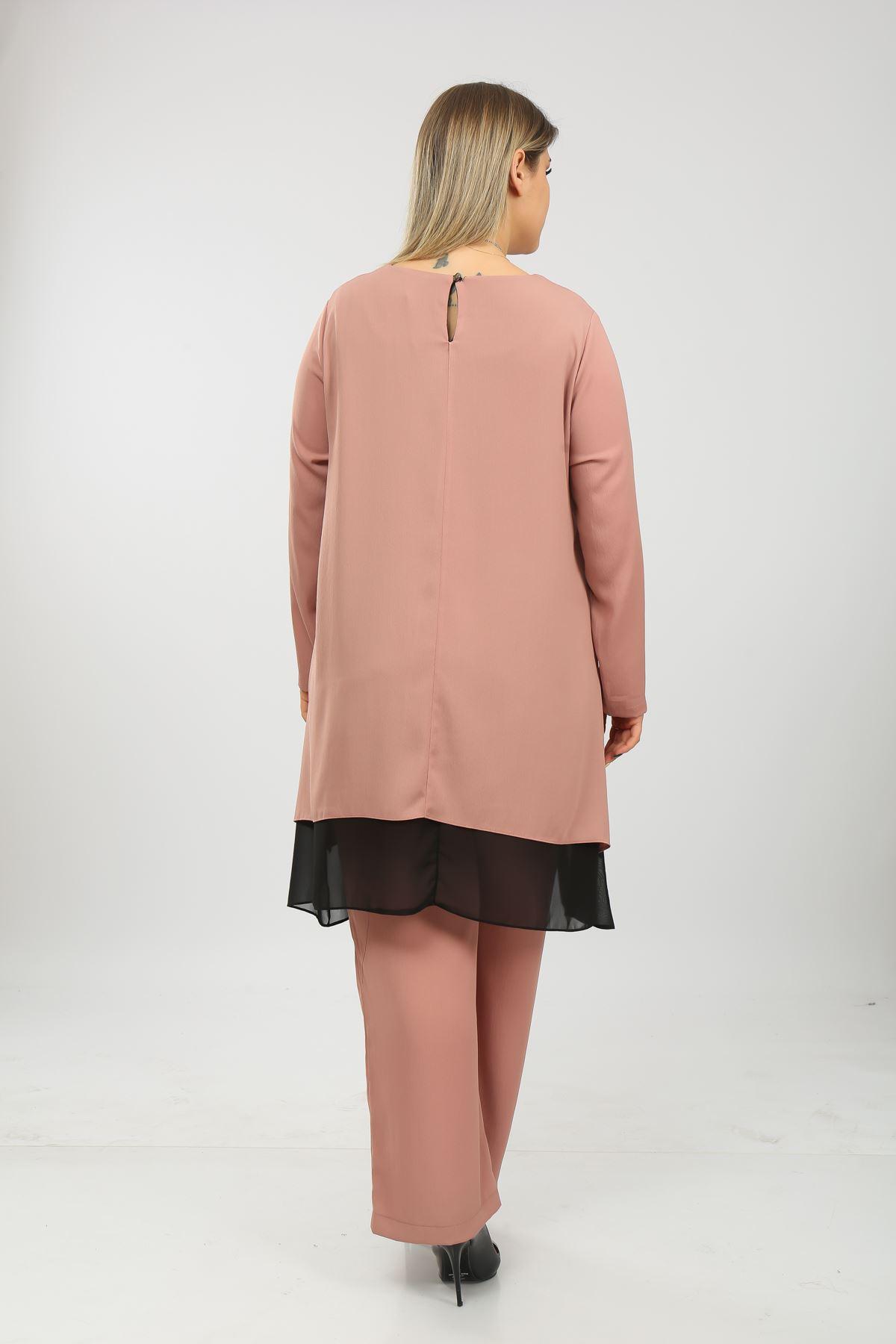 Uzun Kol Kadın Tunik Takım