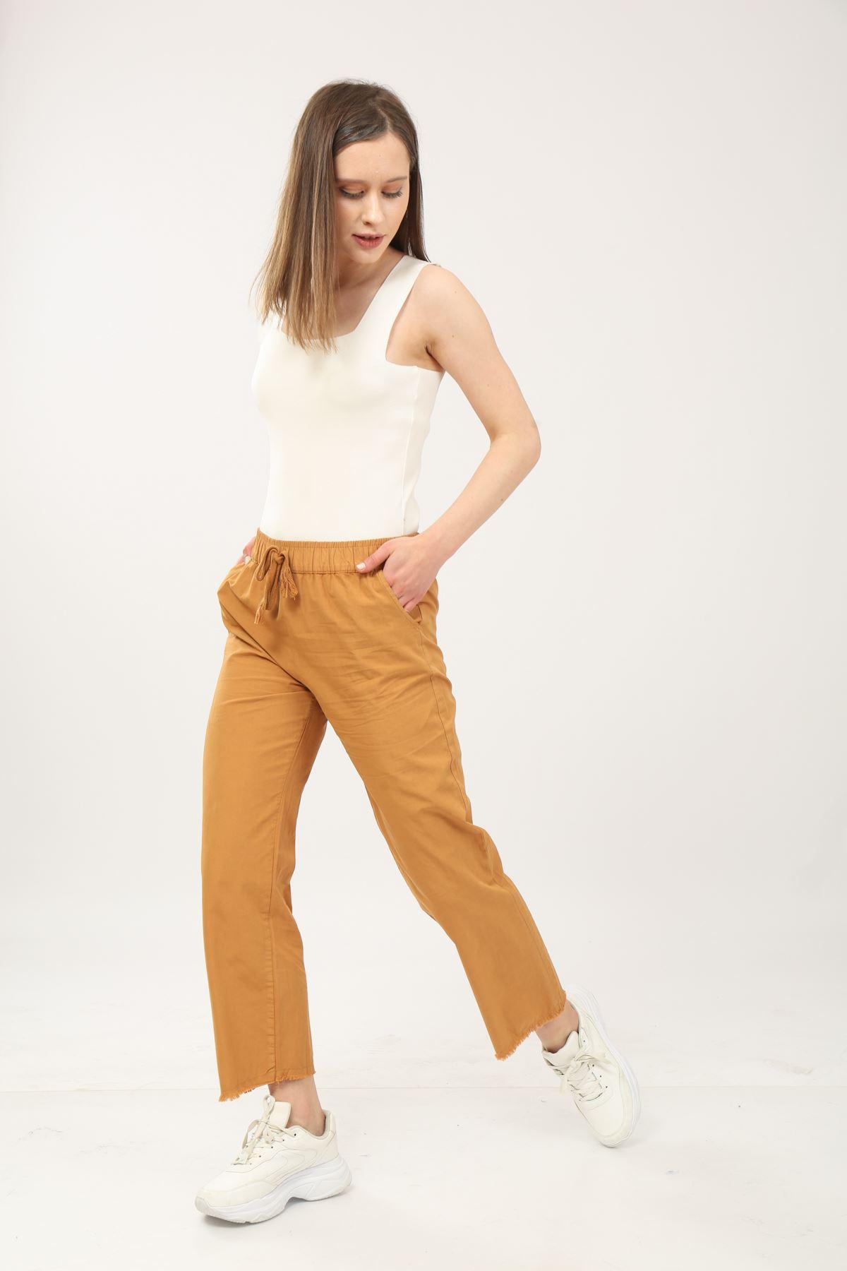 Beli Lastikli Kadın Pantolon