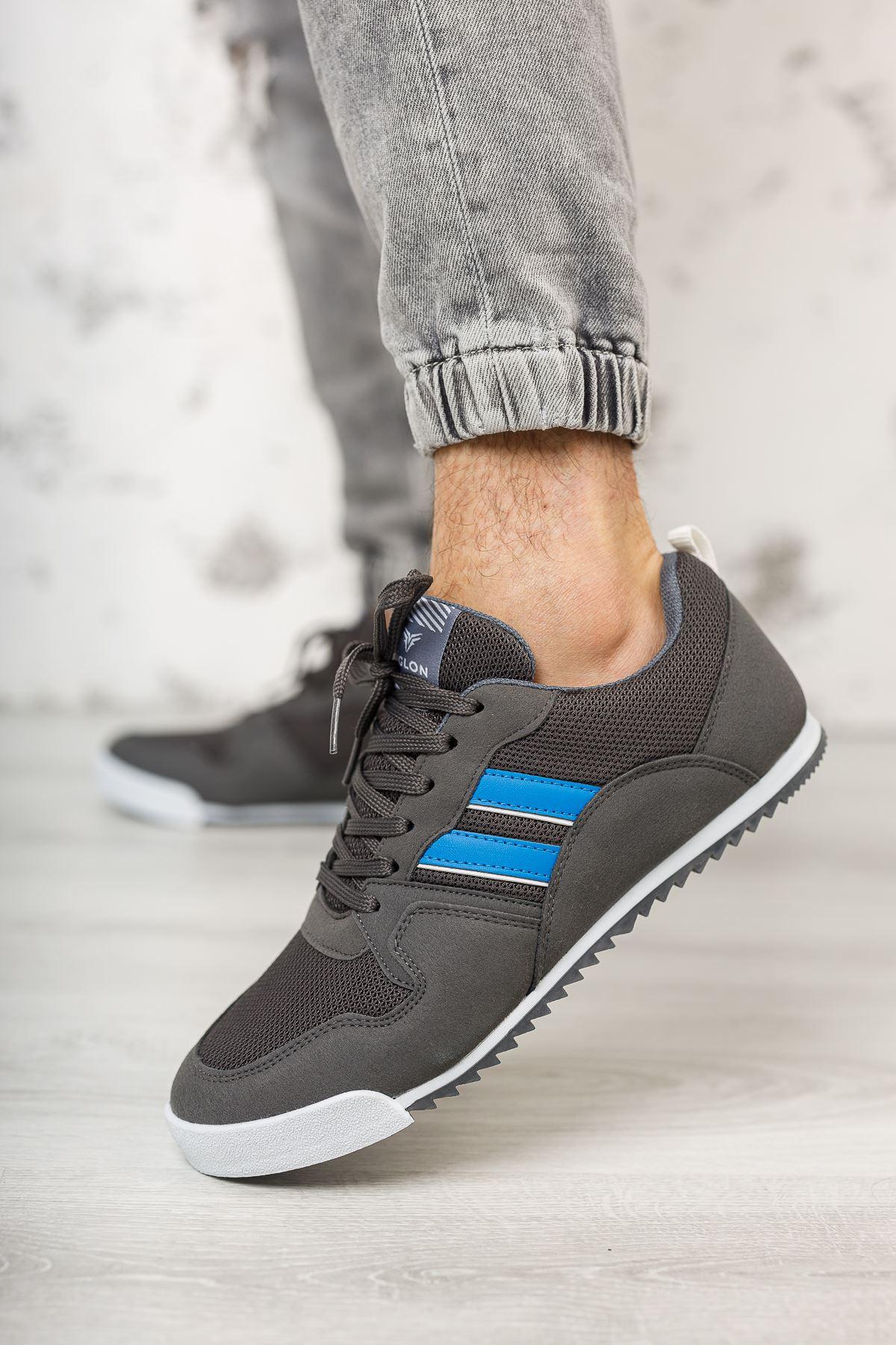 Bağcıklı Gri Erkek Spor Ayakkabı