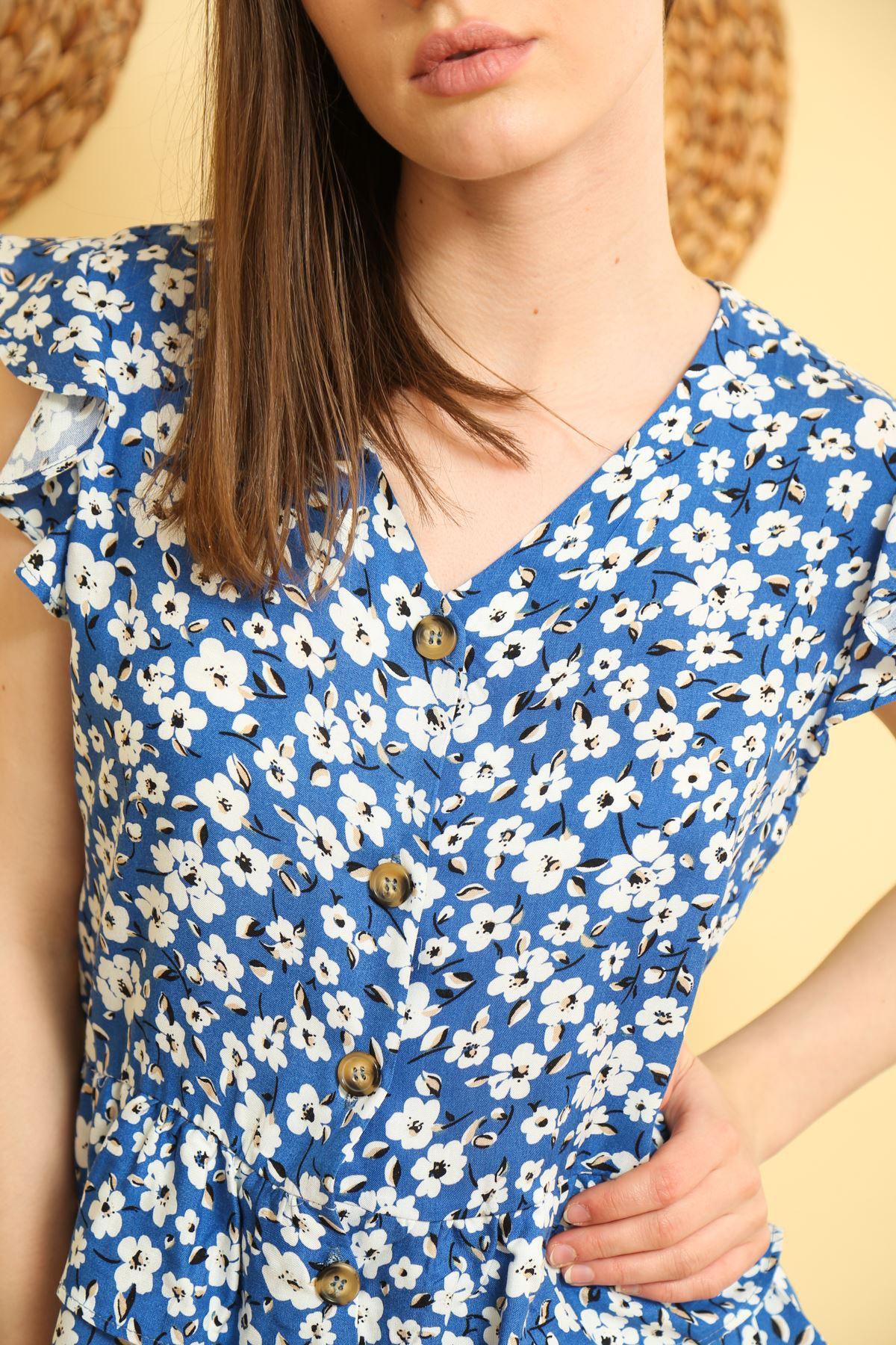 Çiçek Desenli Gömlek