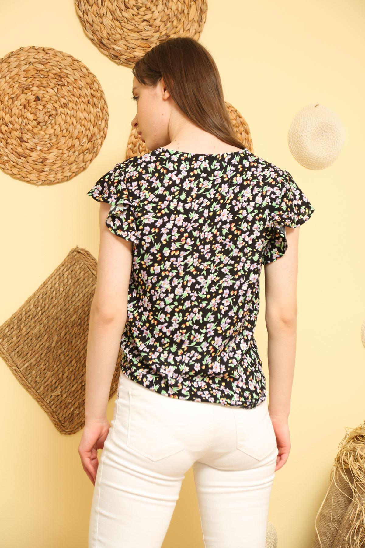 Desenli Bağlamalı Gömlek