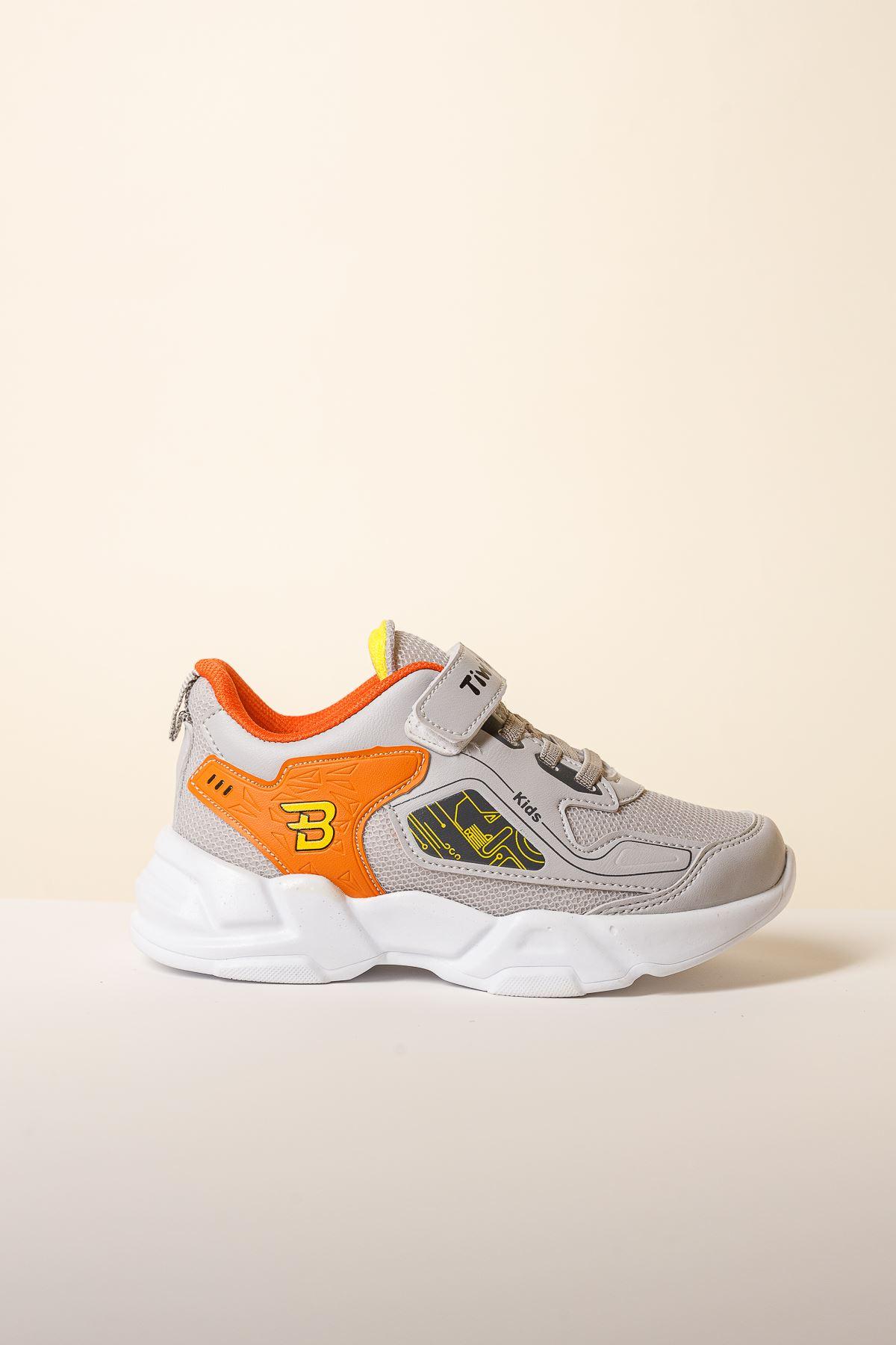 Cırtlı Gri Çocuk Spor Ayakkabı