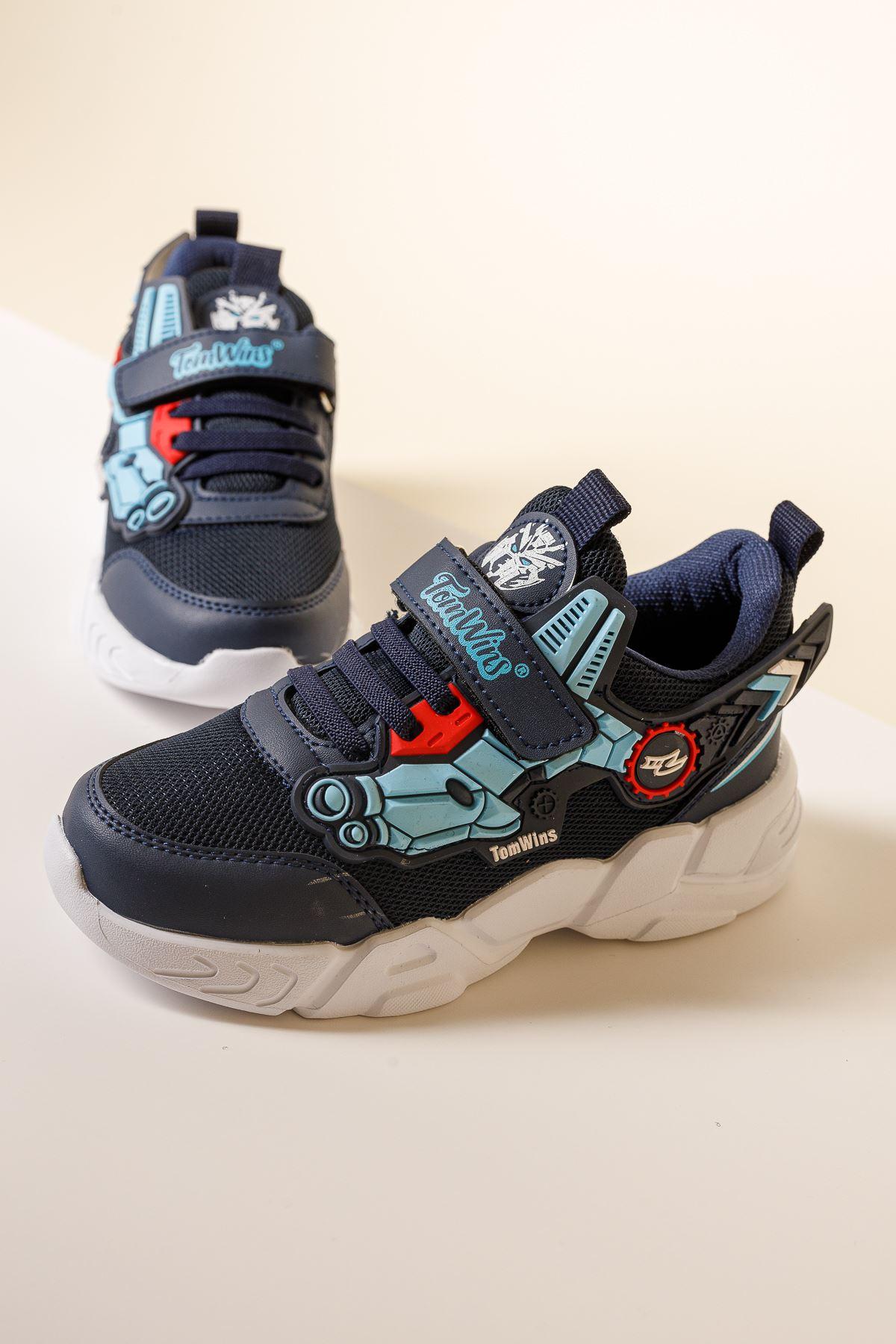 Cırtlı Lacivert Çocuk Spor Ayakkabı