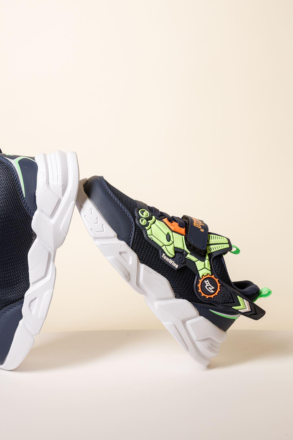 Cırtlı Lacivert Spor Ayakkabı