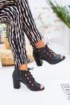 Bağcıklı Topuklu Kadın Ayakkabı