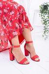 Hasır Kırmızı Ökçeli Sandalet